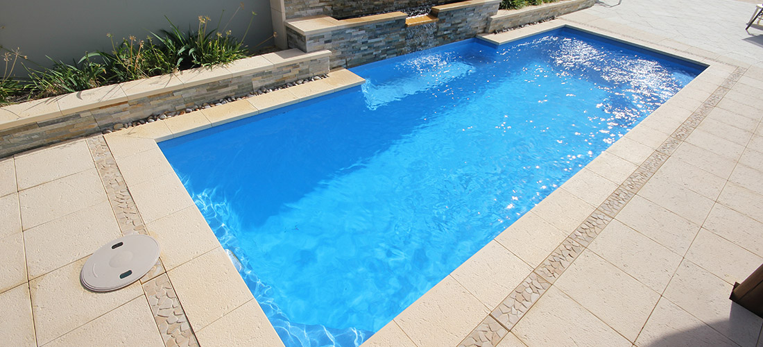 Chateau fibreglass swimming pool 8m x 3m gary west pools for Uses for old swimming pools